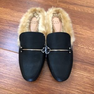 A New Day Rebe Backless Faux Fur Mule Slides